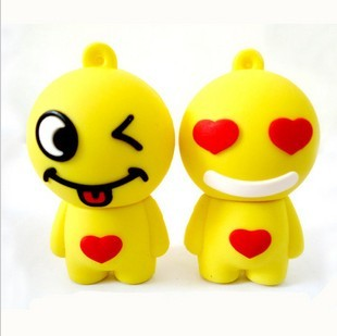 2013 NEW HOT Personality lovers usb flash drive 16g love smiley usb flash drive cartoon usb flash drive  FREE SHIPPING