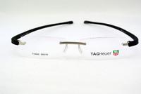 Eyeglass Frames Men's & Women Black Silver RIMLESS Glasses Optic Eyeglasses Prescription Frame T5042