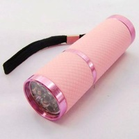 New Portable Sports Camping Bright 9 LED Lamp Mini Flashlight Green Torch 3*AAA