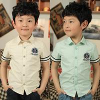 Fashion ! child shirt male child shirt short-sleeve shirt summer 2013 children's clothing