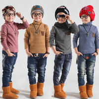 Children's clothing 2012 baby autumn and winter male child basic turtleneck shirt child long-sleeve T-shirt 3s074 plus velvet