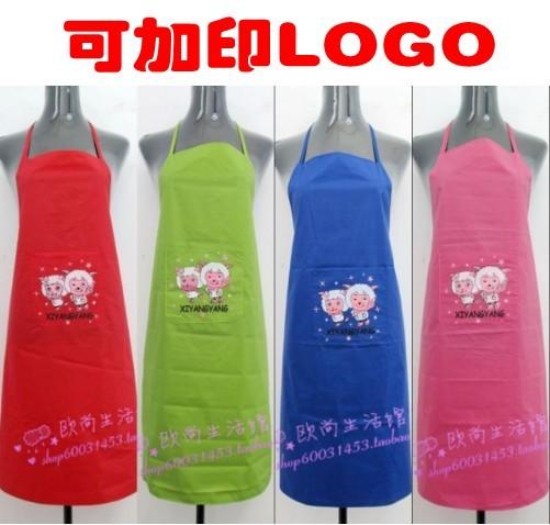 Aprons waterproof adult apron advertising apron pvc apron customize(China (Mainland))