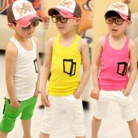 2013 summer children's clothing male child chromophous tank sleeveless vest child vest t-shirt t3013