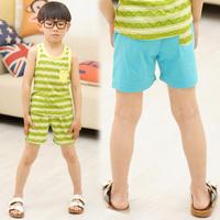 2013 summer children's clothing male child cutout patchwork shorts child casual pants beach pants k5083
