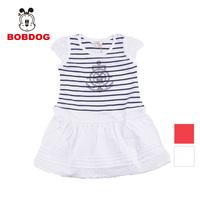 Bob DOG children's clothing 2013 summer 100% cotton one-piece dress fashion stripe mosaic