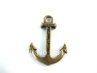 Anchor bracelet 50pcs/lot New Charms Alloy Antique anchors charms pendants for jewelry making Necklace Pendants a1459