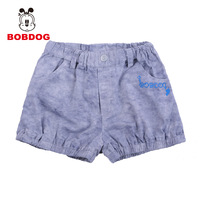 Bob DOG children's clothing summer female child plain weave shorts jacquard 100% cotton shorts female child casual shorts