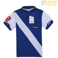 5 clothing BALABALA 2013 summer turn-down collar male child short-sleeve T-shirt 22172121210