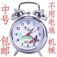 Hefei chicken meters wound-up bell mechanical alarm clock copper movement 823