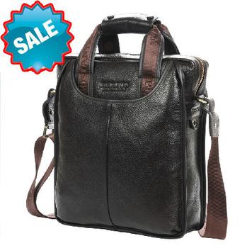 Hot selling genuine leather men messenger bags vintage 100% real leather men travel bags versatile cross body shoulder bags men