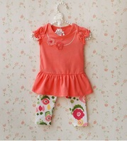 2013 summer spring girls clothing baby clothes chiddler children baby princess set twinset
