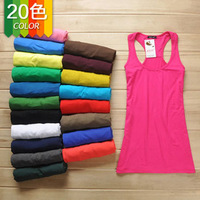 super quality long style modal tanks women tops ladies' tank tops basic shirts sleeveless t-shirt fashion t-shirt