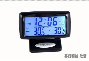Car electronic watch car electronic clock auto clock car thermometer luminous car clock