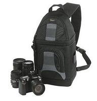 (Black) Lowepro SlingShot 200 AW Photo Digital DSLR Camera Bag MINT SS200 AW Carry Shoulder Backpack & Rain Cover