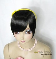 Wig hair extension piece wig piece oblique bangs hair piece of length