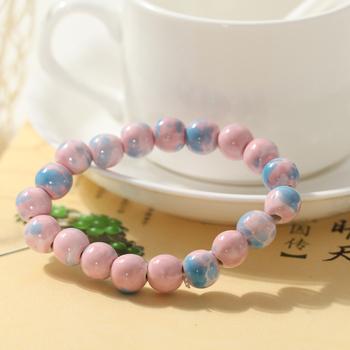 Handmade ceramic beaded jewelry accessories bracelet transhipped gift beads bracelet