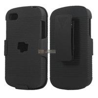 Hard Back Case Cover  Skin + Belt Clip & Stand Bracket for Blackberry Q10