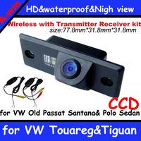 car backup Camera for VW Touareg&Tiguan& Passat Santana&Polo Sedan+ 2.4Ghz Wireless Signal Receiver/Transmitter car rear camera