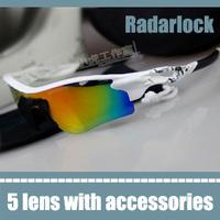 cycling sunglasses 5 lens the brand sport radarlock glasses with interchangable lenses white frame mirror lens women's eyewear