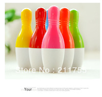 Free shipping The creative personality Bowling pen, creative stationery Bowling retractable pen/50pcs/lots