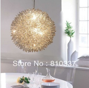 400mm Aluminum 6* G4 Wire Ball Pendant Lamp Lighting Light Fixture bedroom study room gift free shipping