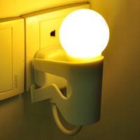 Free Shipping Light Control Night Light Cute Boy Night Lamp LED Intelligent Night Light