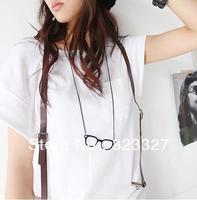C077 accessories vintage alloy glasses long necklace personalized pendant necklace