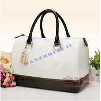 Free shipping 2013 women summer fashion Candy designers,  vintage handmade jelly pillow  tote cheap name brand handbags
