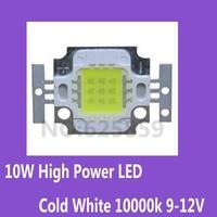10x 10W High Power LED Cold White 10000k 9-12V for fish tank led light chip