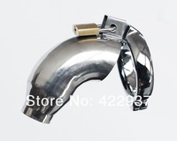 Free Shipping Stainless Steel Penis Ring Cock Cage with Front Slight Open Penis sleeve dildo cage ring sex toys for men