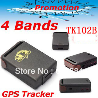 Dropshipping ! GPS Tracker Mini Global Real Time 4 Bands GSM/GPRS TK102B gps Tracking device for personal , car and pet