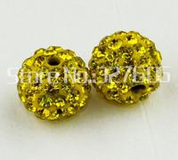 Enough Stock 10MM Clay Shamballa Rhinestone Clay Beads Wholesale 50pcs/lot Clay Disco Pave Ball Beads DIY Bracelets!!
