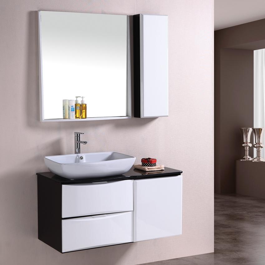 Ikea Badkamer Trolley ~ zwart en wit eiken badkamermeubel wastafel badkamer combinatie