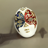Min.order $10 mix order Personality China style mask painting rings Free shipping