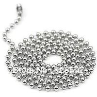 40pcs Free Shipping 2.4mm 30inch Stainless Steel Ball Beads Necklace Chain Stainless Steel Ball Chain KEYCHAIN ball chain
