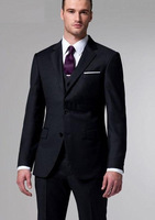 Свадебный мужской костюм Custom Made Groom Tuxedo Peak dark gray New Fashion Bridegroom wedding Groomsman dress/Men Suits