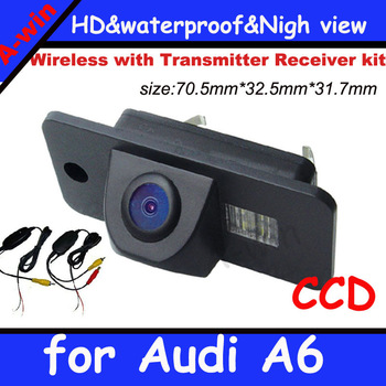 "CCD 1/3"" Car Rear View Parking Reversing Back up Camera 170 Degree for audi A6 night vision waterproof"