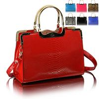 Fashion leopard print fashion motorcycle bag 2013 spring candy bag color block brief women's handbag bag