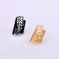 24pcs/lot Wholesale Free Shipping Fashion accessories cutout lace flower Women rings finger ring