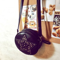 New arrival spring women's vintage rivet handbag small bag one shoulder cross-body women's handbag free shipping