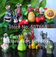 Plants VS Zombies PVZ Collection Figures 20pcs/set 2*10=20 zombies figure OPP retail package