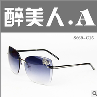 High quality rice 2013 women's sunglasses fashion mirror casual vintage glasses
