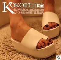 on sale 2013 platform slippers candy color wedges flip-flop sandals female shoes