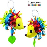 New Lamaze Early Development Toys, Hedgehog Teether Hand bells Stuffed Plush Baby Toys Free Shipping