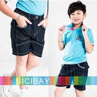 Free Shipping Boy Fashion Jeans Summer Half Pants,5pcs/lot K0834