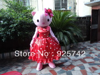 High quality The pink dress Mascot Costume Kt cartoon clothes performance wear holiday decoration props Cartoon Costume