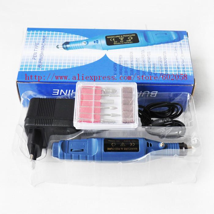 wholesale good quality US/EU plug Electric Nail Drill set mini manicure machine drill Bits 3000-20000RPM 4sets/lot free shipping(China (Mainland))