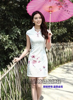 free shipping Cheongsam dress chinese style cheongsam summer fashion summer young girl cheongsam one-piece dress  summer dress