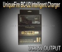 5PCS/LOT UniqueFire BC-U2 Intelligent Charger For 10440/14500/14650/16340/17670/18500/18650/18700 And USB 5V/500mA Output