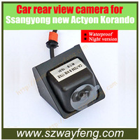 Car rear view camera for Ssangyong new Actyon Korando waterproof night version free shipping